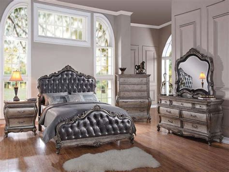 traditional king bedroom sets traditional 5 piece granite top cal or estern king bed