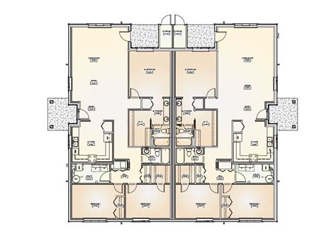 Duplex Floor Plans Floor Plans For Duplex Homes One Level Duplex House Plans