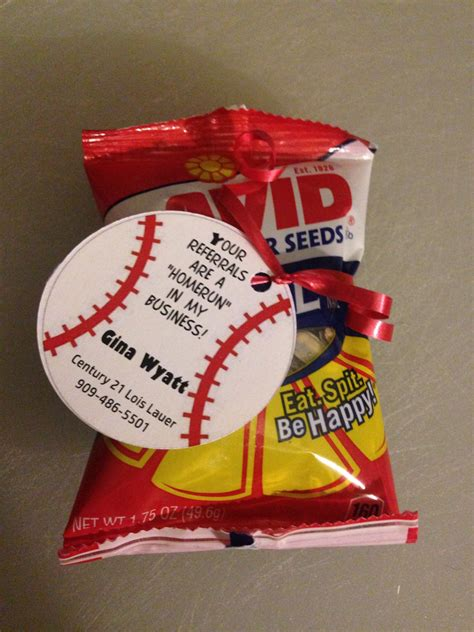 Baseball Themed Giveaways - baseball themed realtor pop bys 20 items