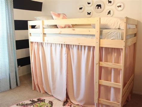 Ikea Bunk Bed Tent Danielle Oakey Interiors Tenting The Loft Bed How To Hack Ikea S Mydal Bunk Bed Into A Loft