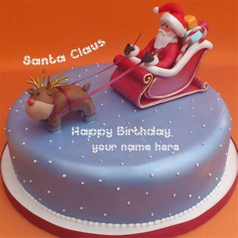 merry christmas santa claus design birthday cake