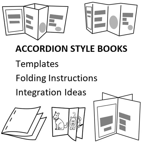 accordion book template printable technology in the classroom bookmaking activities
