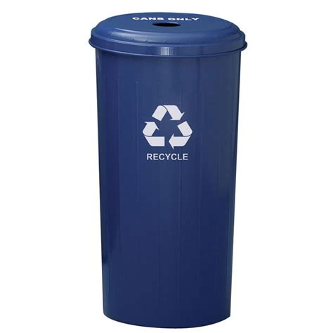 decorative recycling containers for home witt 10 1dtdb 20 gal cans recycle bin indoor decorative