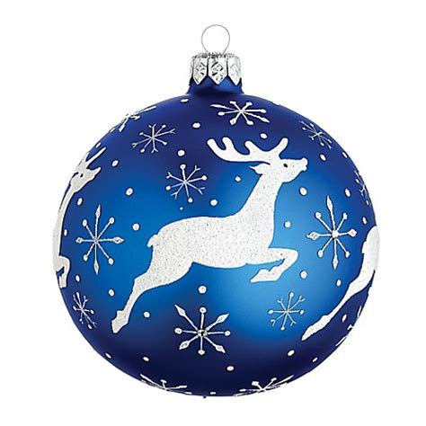 buy reed barton classic christmas stag ball ornament