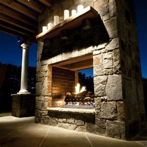 pass through fireplace home