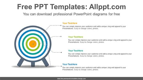 Color Changeable Target Powerpoint Diagram Template Target Powerpoint Template