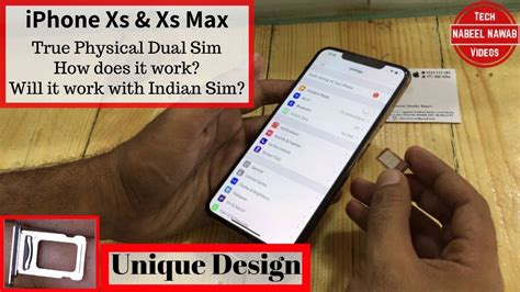 iphone xs xs max true physical dual sim how does it work will it work with indian sim
