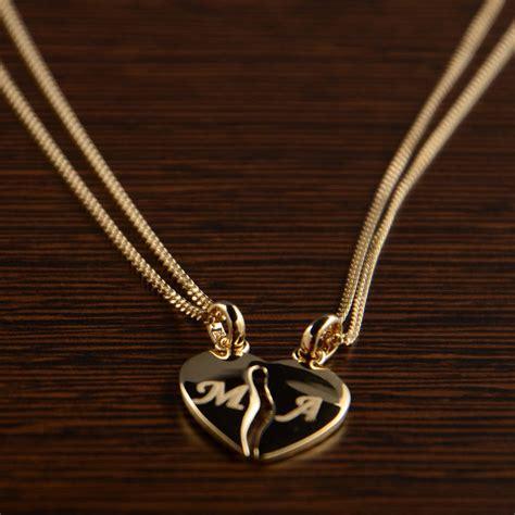 cadenas de oro para novios colgante coraz 243 n divisible personalizado