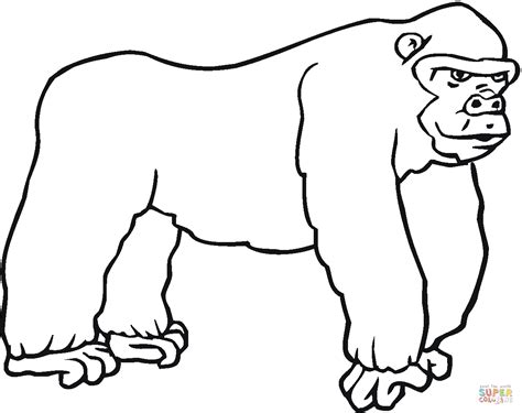 coloring page for gorilla gorilla 7 coloring page free printable coloring pages