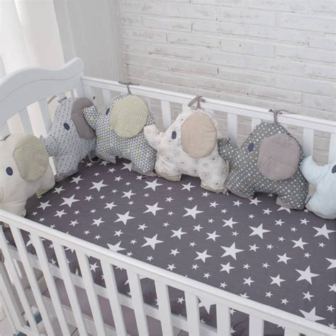New Style Baby Bed Backrstbed Cushion Aimal Elephant Crib Baby Bumping On Crib