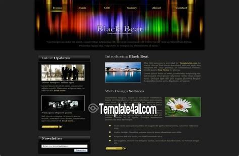 green black business css template