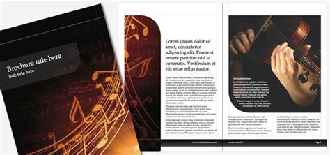 brochure music istudio publisher page layout