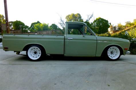 slammed datsun truck 1972 datsun 521 truck all original patina restro
