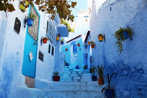 blue city morocco ancient city in morocco entirely painted blue video