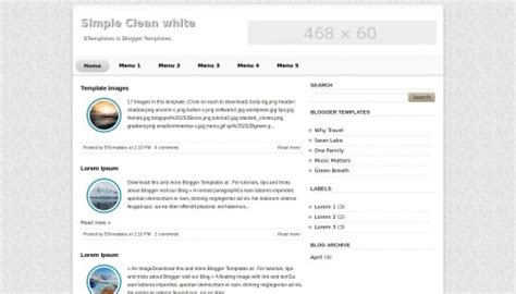 simple blog templates for blogger simple clean white blogger template btemplates