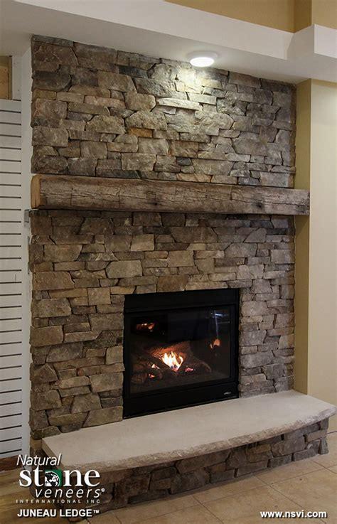 juneau ledge fireplace natural stone veneers
