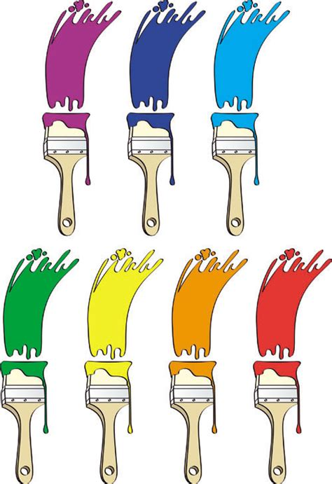 paint colors clipart different colors of paint brush 01 vector download free