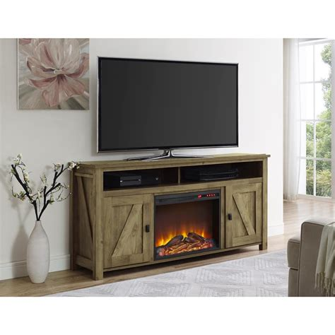 60 fireplace tv stand in light pine 1795296com