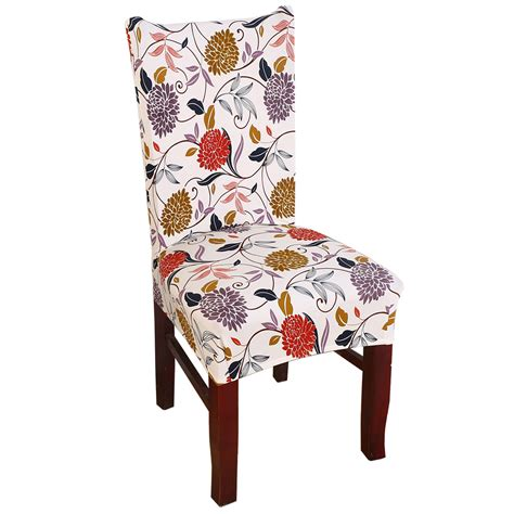 removable elastic stretch slipcovers short dining room chair seat cover da ebay