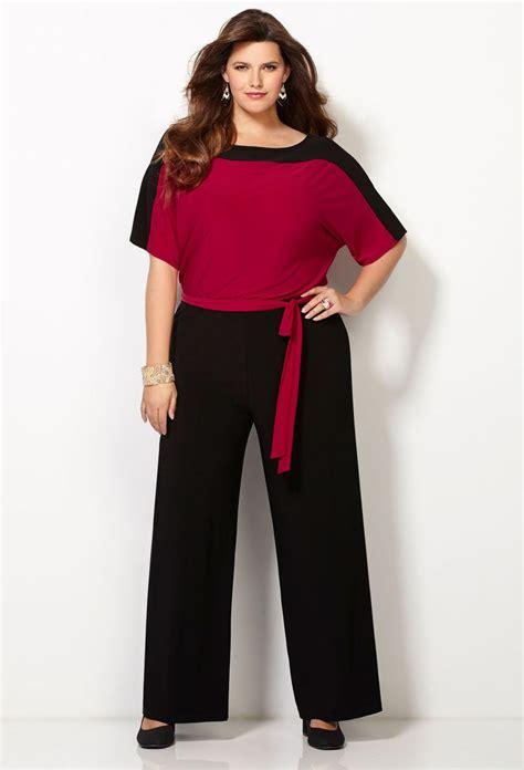 Jumpsuit Jumbo Jumpsuit Bigsize plus size sleeve colorblocked jumpsuit wide leg jumper unique womens fashion something