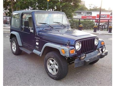 2000 Jeep Wrangler Top Sell Used 2000 Jeep Wrangler Sport 4 0 V6 4x4 Top