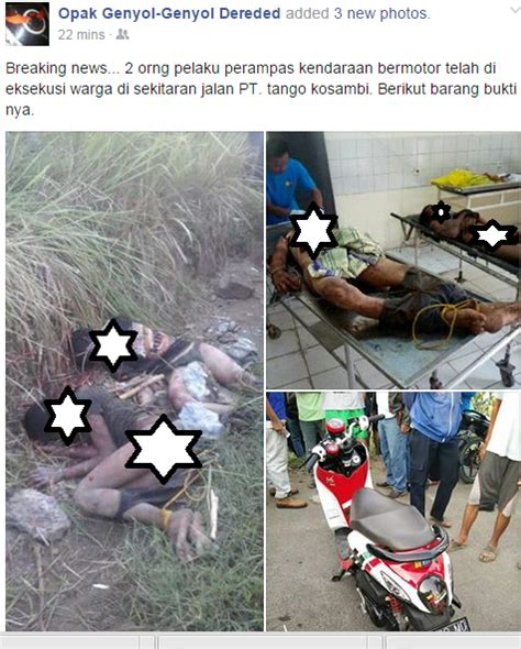 Alarm Motor Di Karawang dua maling motor dihajar warga hingga meninggal pagi ini