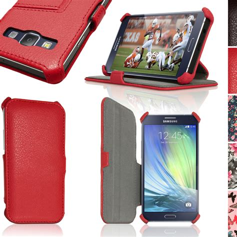 Pu Leather Syntetic Flip Book Cover Casing Samsung A5 2017 A520 pu leather flip for samsung galaxy a3 sm a300f stand book folio cover