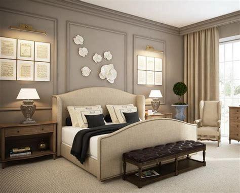 schöne nachttische schlafzimmergestaltung violett