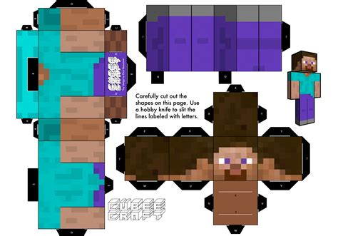 Papercraft Minecraft Steve - minecraft paper craft paper crafts ideas for