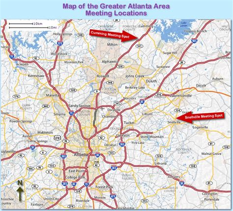 atlanta georgia surrounding area map map of atlanta ga map of atlanta neighborhoods intown