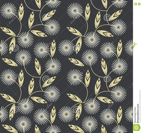 fabric pattern design vector seamless pattern with white camomile flowers stock vector