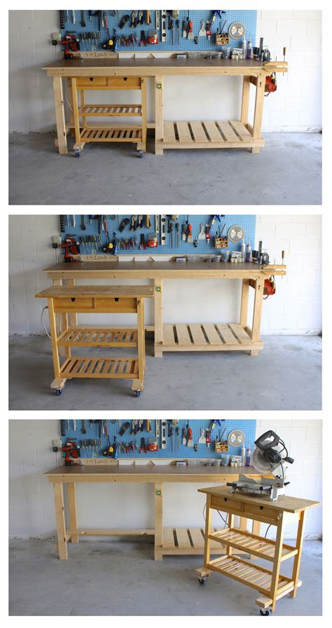 ikea garage hacks diy workbench ikea hack dk