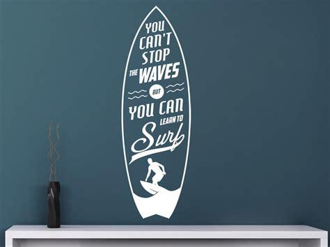 Was Heißt Flur Auf Englisch by Wandtattoo Learn To Surf Bei Homesticker De