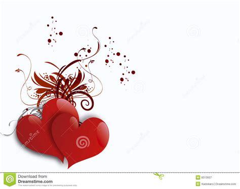 Imagenes De Corazones Vendados | dos corazones en el fondo blanco stock de ilustraci 243 n