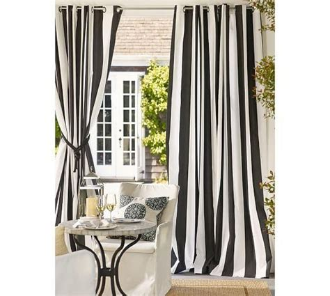 Black Outdoor Curtains Outdoor Curtains Black White Stripe Photos That Really Astounding As Your Inspirations