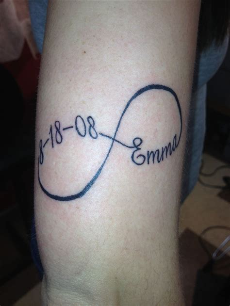 infinity tattoo with name infinity back of neck names tattoos that