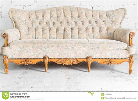 white vintage couch white vintage sofa bed stock photo image 55971045