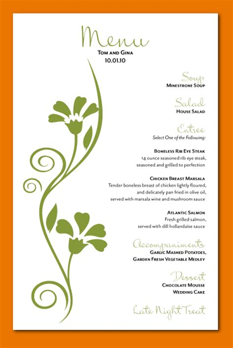 menu card design templates blank weekly menu template