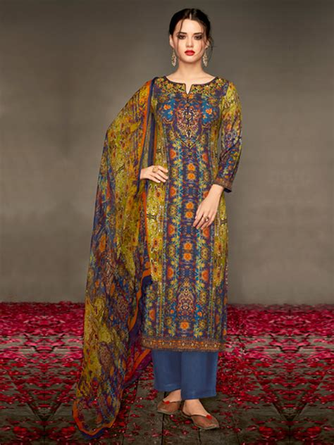 Pashmina Cutting shop the winter wear pashmina salwar kameez inddus