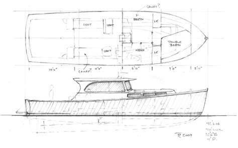 boat hull plans downeast hull design dobsonsmall01 jpg builds
