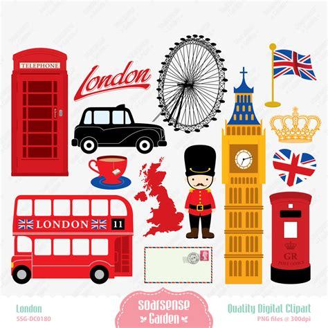 printable art uk london digital clipart england clipart by ssgarden on etsy