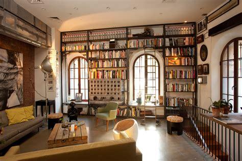 Art Deco Living Room Furniture soho loft library juan alfaro design