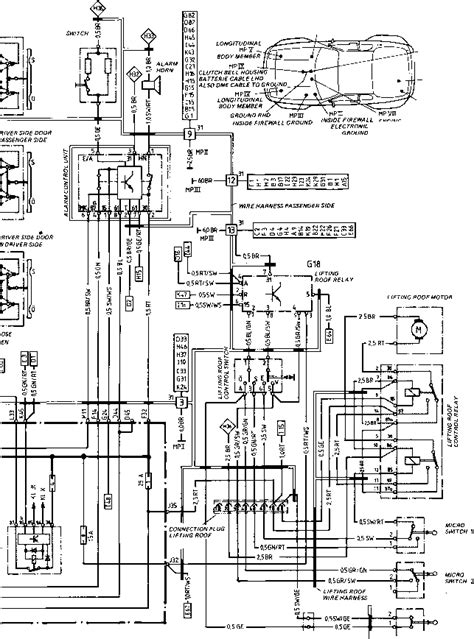 porsche 944 alarm wiring diagram porsche 944 for