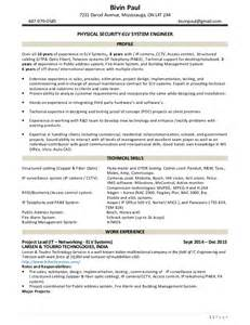 Physical Security Consultant Sle Resume by Bivin Paul Resume Physical Security And Elv System Engineer May
