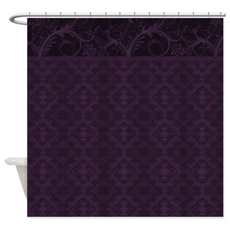 purple damask curtains royal purple damask shower curtain by bwcdesigns