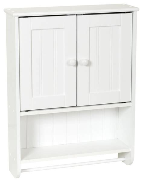 wall mount bathroom cabinet with towel bar white finish