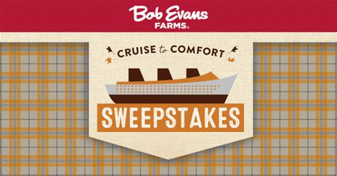 2017 bob evans cruise to comfort sweepstakes winzily - Bob Evans Com Comfort Sweepstakes