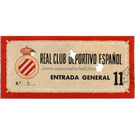 entradas espanyol entrada rcd espanyol 1970s