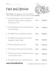 free fact and opinion worksheets language arts pdfs