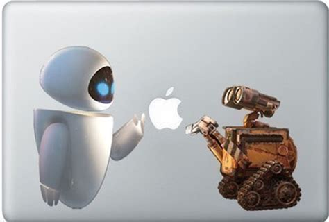 wall e stickers wall e and macbook decal